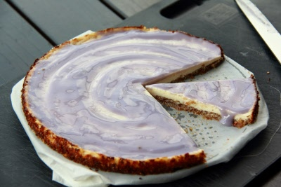 Lavender Yogurt Cheesecake With Kaffir Lime-Flavored Strawberries ...